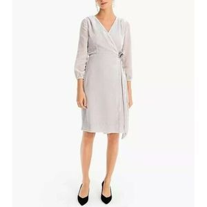 J CREW velvet true wrap drape dress